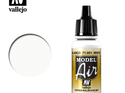 VALLEJO ACRYLIC (VLJ) 71001 - White Model Air         17ML