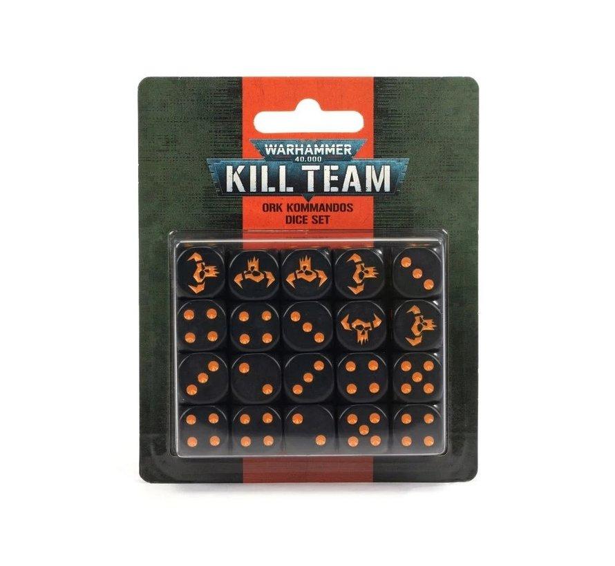 102-82 KILL TEAM: ORK KOMMANDOS DICE SET