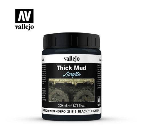 VALLEJO ACRYLIC (VLJ) 26812 - BLACK THICK MUD   200ML
