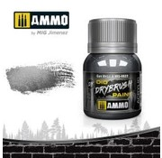 AMMO by Mig Jimenez (AMM) Dio Drybrush Paint - Gun Metal (40ml bottle)