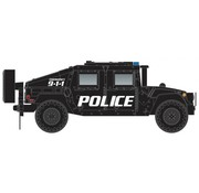 Micro-Trains Line (MTL) 489- Humvee(R) Military Vehicle 2-Pack - Assembled -- Police (black)