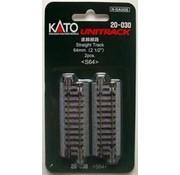 "Kato USA (KAT) 381- 20-030 N scale 64mm 2-1/2"" Straight (2)"
