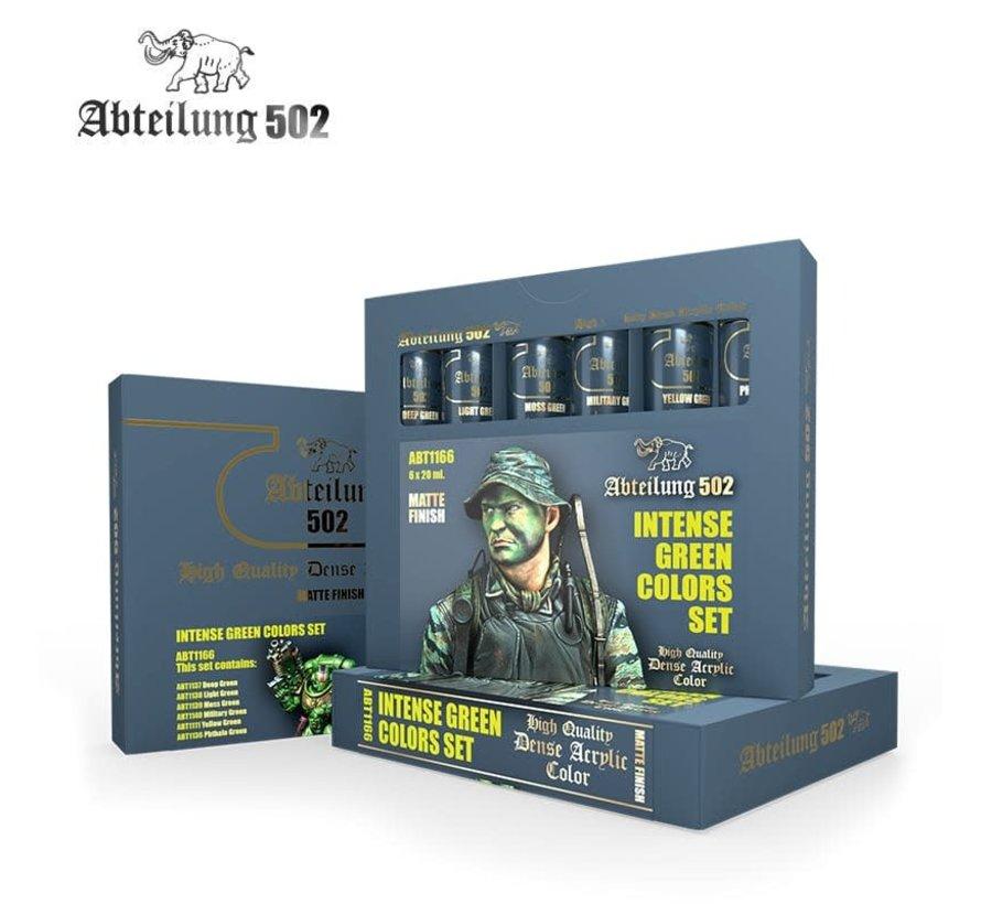 1166 Intense Green Acrylic Paint Set (6 Colors) 20ml Tubes