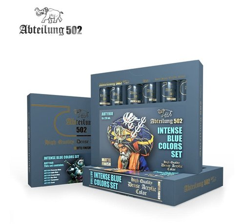 Abteilung 502 1168 Intense Blue Acrylic Paint Set (6 Colors) 20ml Tubes