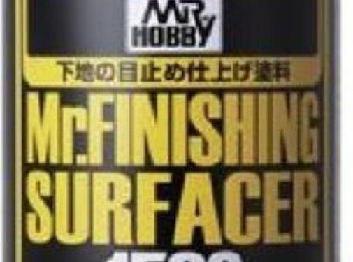 Mr. Hobby GSI - GNZ B526 Mr Finishing Surfacer 1500 Black 170ml Spray - Primer