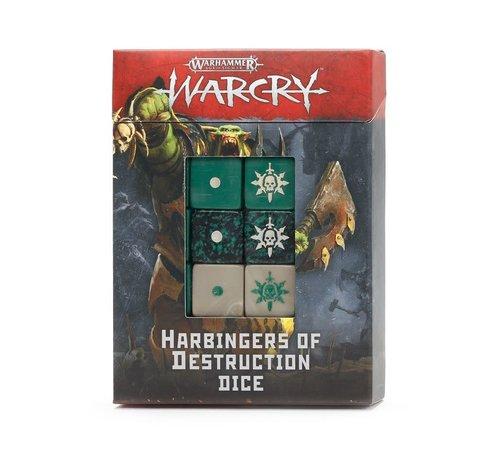 Games Workshop -GW 111-75 WARCRY: HARBINGERS OF DESTRUCTION DICE