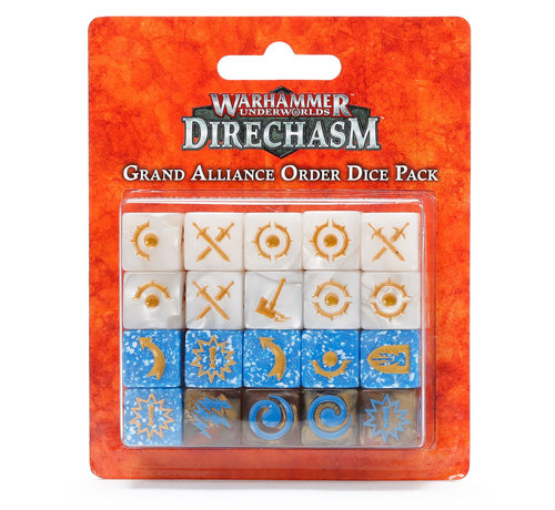 Games Workshop -GW 110-09 WARHAMMER UNDERGROUND: GRAND ALLIANCE ORDER DICE PACK