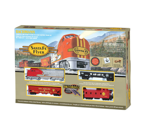 Bachmann (BAC) 160- 00647 Santa Fe Flyer Train Set HO