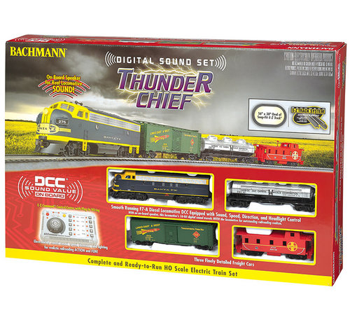Bachmann (BAC) 160- 00826 HO Thunder Chief Train Set w/EZ Command Sound