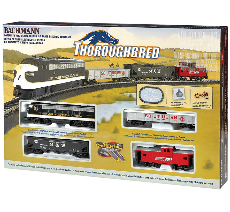 00691 HO Thoroughbred  Train Set