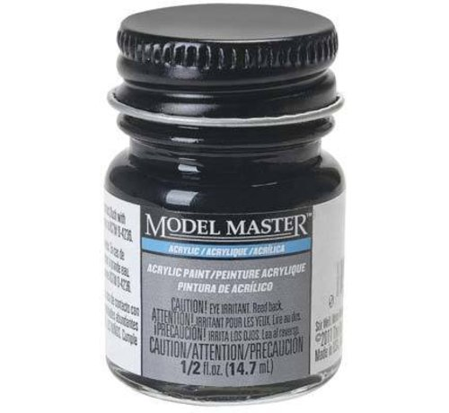 TES - Testors 4888 Engine Black Flat Acrylic 1/2 oz