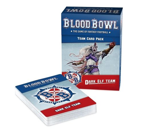 Games Workshop -GW 200-44 BLOOD BOWL DARK ELF TEAM CARD PACK