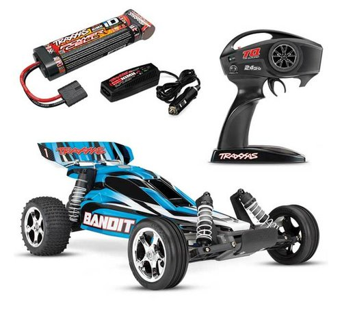 Traxxas (TRA) 24054-1-BLUEX Bandit: 1/10 Scale Off-Road Buggy with TQ 2.4GHz radio system
