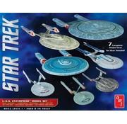 AMT Models (AMT) STAR TREK U.S.S. ENTERPRISE BOX SET - 1:2500 SCALE SNAP MODEL KITS