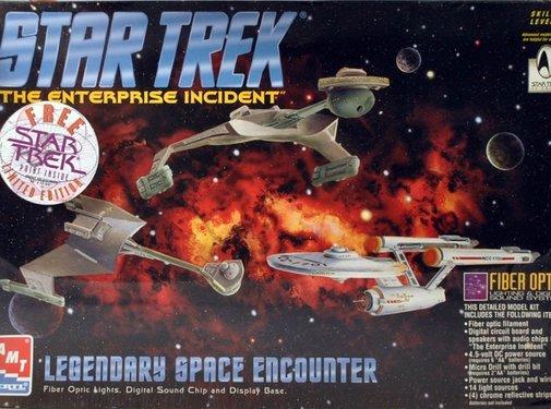 AMT Models (AMT) Legendary Space Encounter Enterprise + D7 Klingon BC