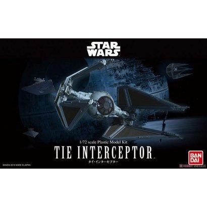 "BANDAI MODEL KITS Tie Interceptor ""Star Wars"" Bandai Star Wars 1/72 Plastic Model"