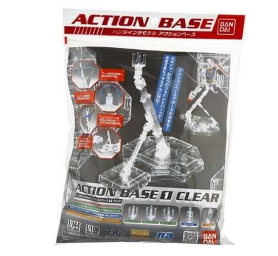 5057417 MG 1/100 Clear Display Stand Action Base 1