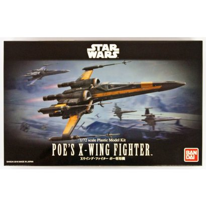 BANDAI MODEL KITS 210500 1/72 Poe's X-Wing Fighter Star Wars Force Awaken