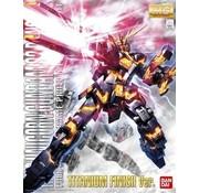 BANDAI MODEL KITS 1/100 MG Unicorn Gundam Banshee Titanium Finish Ver 2