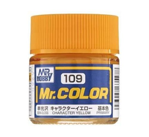 Mr. Hobby GSI - GNZ GNZ-C109 Semi Gloss Character Yellow 10ml