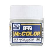 Mr. Hobby GSI - GNZ GNZ-C107 Semi Gloss Character White 10ml