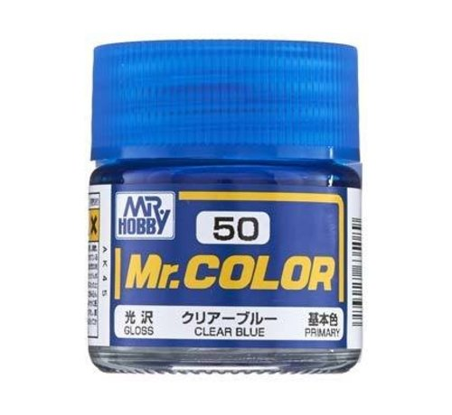 Mr. Hobby GSI - GNZ C50 Gloss Clear Blue 10ml , GSI Mr. Color