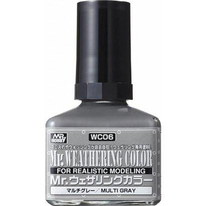 GNZ-Gunze Sangyo WC06 Multi Gray GSI, Mr. Weathering Color Paint