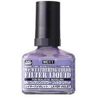 GNZ-Gunze Sangyo WC11 Filter Liquid violet GSI, Mr. Weathering Color Paint