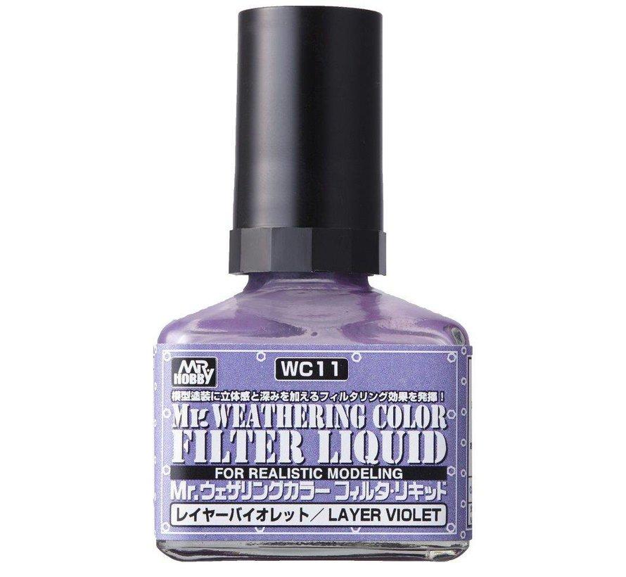 WC11 Filter Liquid violet GSI, Mr. Weathering Color Paint