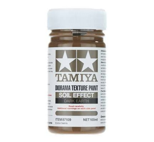 TAM - Tamiya 865- 87109 Diorama Texture Paint Soil Effect Dark Earth