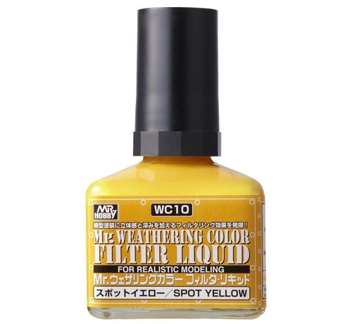 Mr. Hobby GSI - GNZ WC10 Filter Liquid Yellow GSI, Mr. Weathering Color Paint