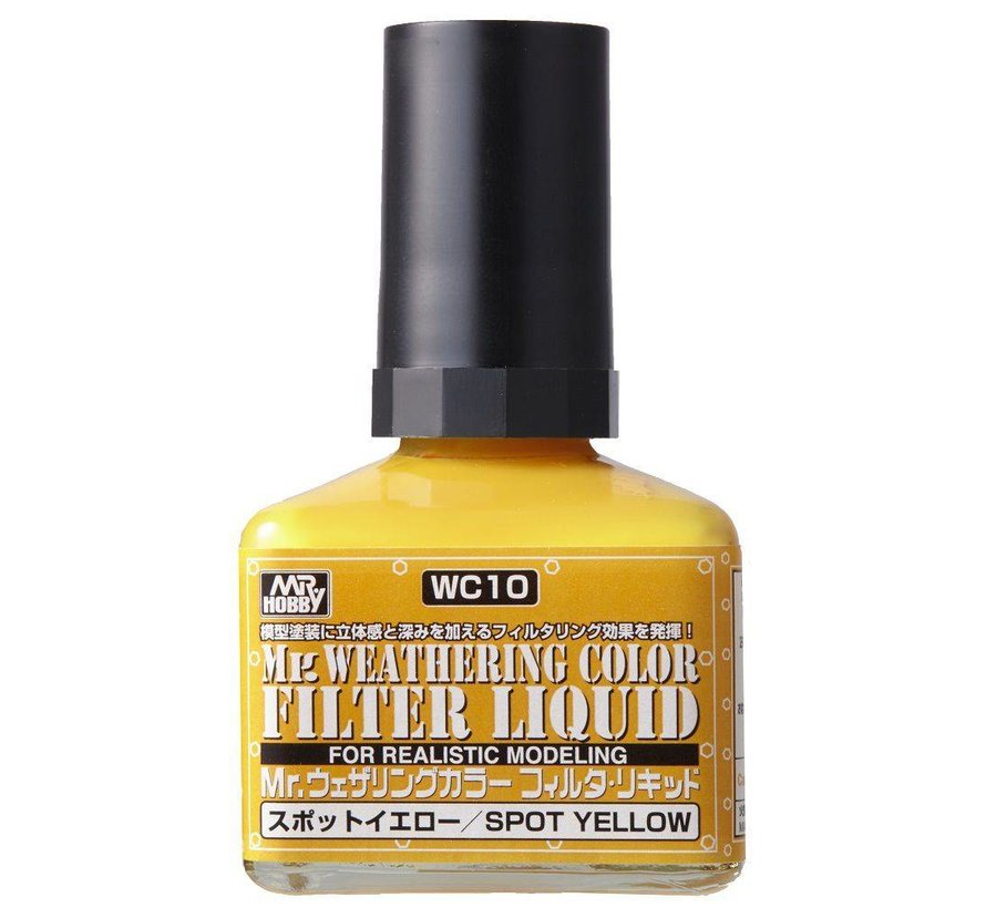 WC10 Filter Liquid Yellow GSI, Mr. Weathering Color Paint