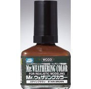 Mr. Hobby GSI - GNZ WC03 Stain Brown GSI, Mr. Weathering Color Paint
