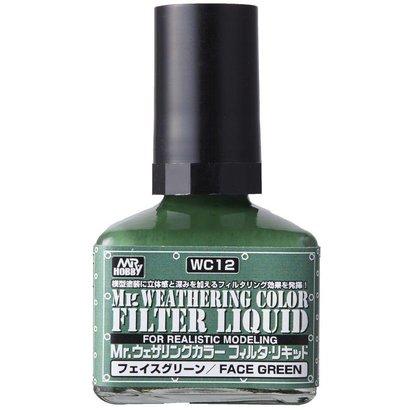 GNZ-Gunze Sangyo WC12 Filter Liquid Green GSI, Mr. Weathering Color Paint