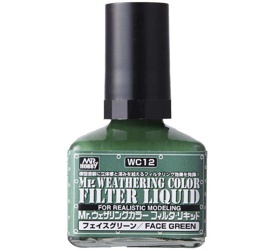 WC12 Filter Liquid Green GSI, Mr. Weathering Color Paint