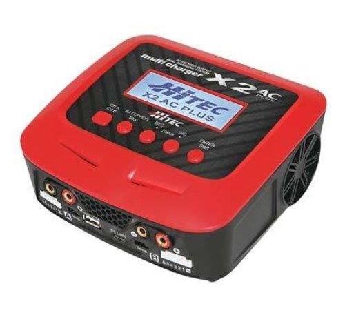 Hitec (HRC) 44232 X2 AC Plus Charger Battery Dual Input