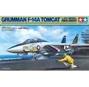 Tamiya (TAM) 865- 61122 Grumman F-14A Tomcat (Late Model) Carrier Launch Set Plastic Model Kit 1/48