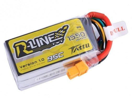 Tattu 1550mAh 95C 4S1P lipo battery PK