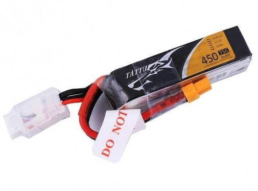 Tattu 450mAh 11.1V 75C 3S1P Lipo Battery
