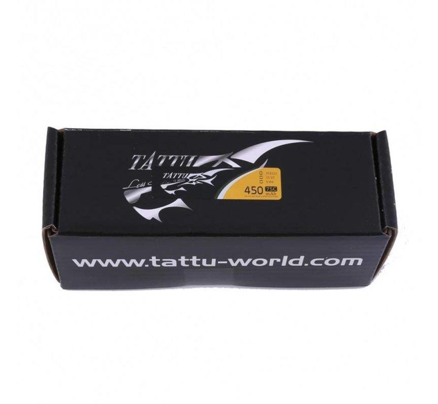 Tattu 450mAh 11.1V 75C 3S1P Lipo Battery Pack with XT30 plug - Long Size for H Frame