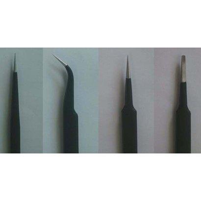 TSM - Trumpeter Models 09957 Tweezers Set (4pcs): Long, Curved, Straight, Flat *