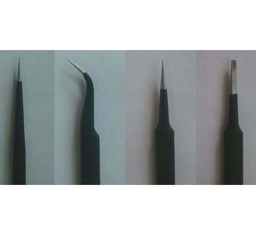 Trumpeter Models (TSM) 09957 Tweezers Set (4pcs): Long, Curved, Straight, Flat *