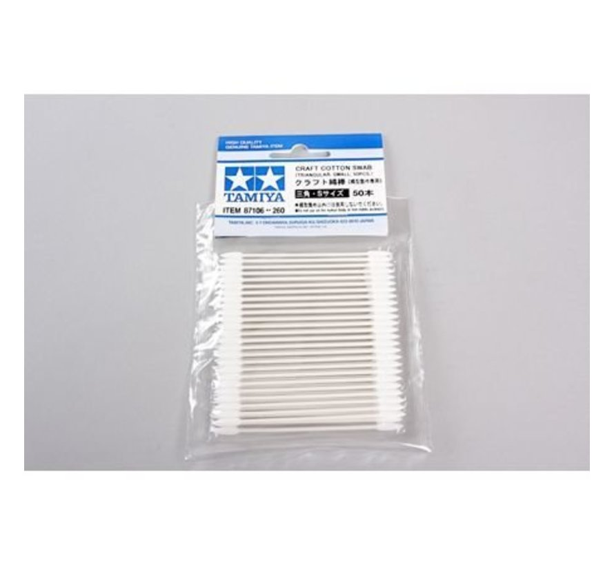 87106 Craft Cotton Swab Triangular Small 50pcs