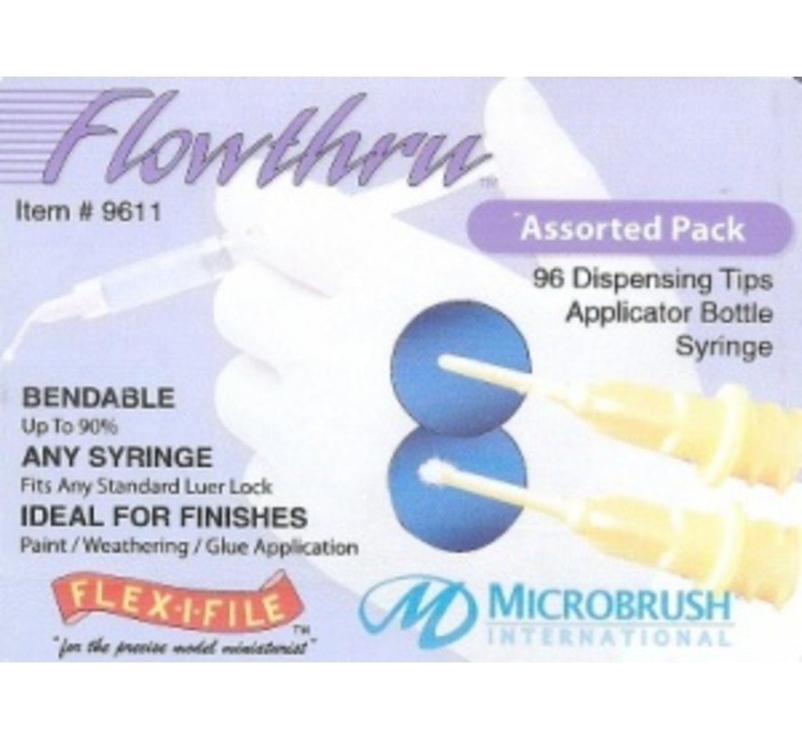 Flowthru Assorted Pack in a plastic case (D)