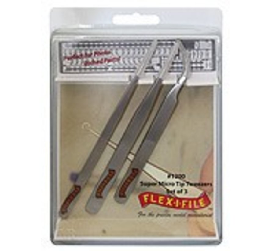 FLE1200 Stainless Steel Tweezer Set