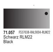 VALLEJO ACRYLIC (VLJ) Flat BLACK  FS37038  17ML - Model Air