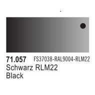VLJ-VALLEJO ACRYLIC PAINTS Flat BLACK  FS37038  17ML - Model Air