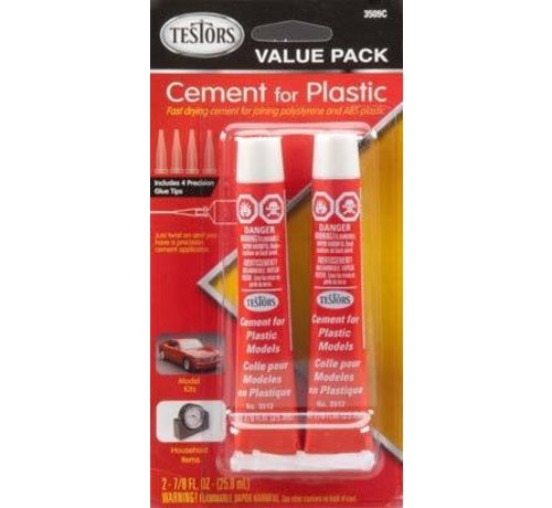 TES - Testors 3509C Cement For Plastic  Value Pack *