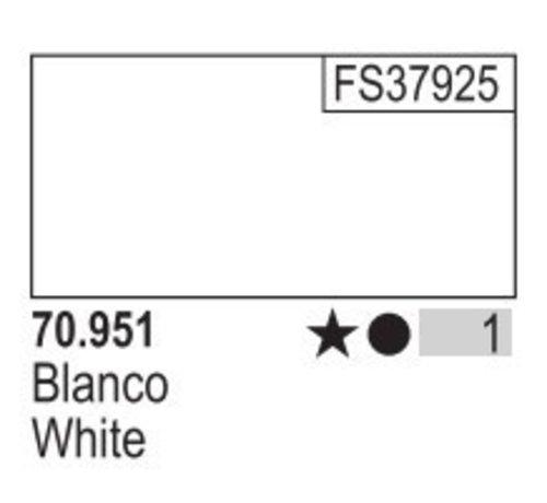 VALLEJO ACRYLIC (VLJ) 70951 WHITE                       17ML