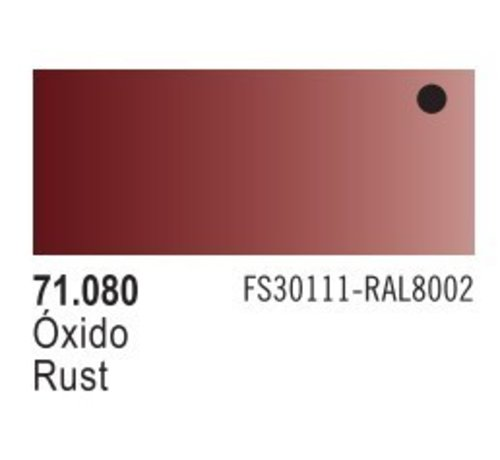 VALLEJO ACRYLIC (VLJ) 71080 - RUST                        17ML